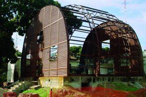 estrutura metálica da reconstrução do pavilhâo Gautier