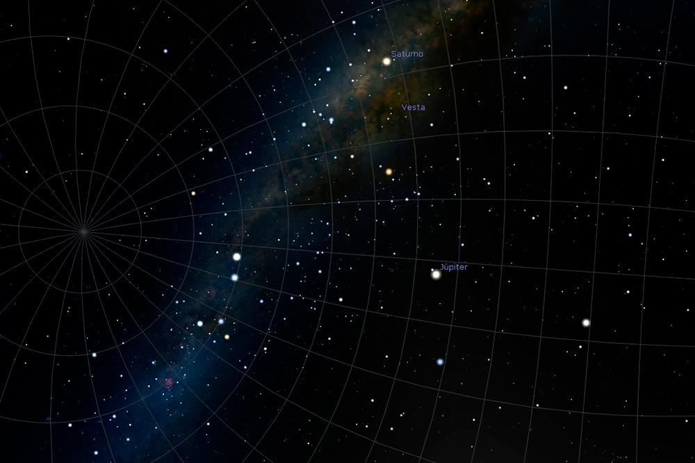 imagem dos planetas gerada pelo software usado na atividade
