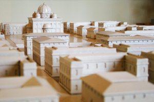 Cidade ideal: maquete de planejamento urbanístico de Da Vinci