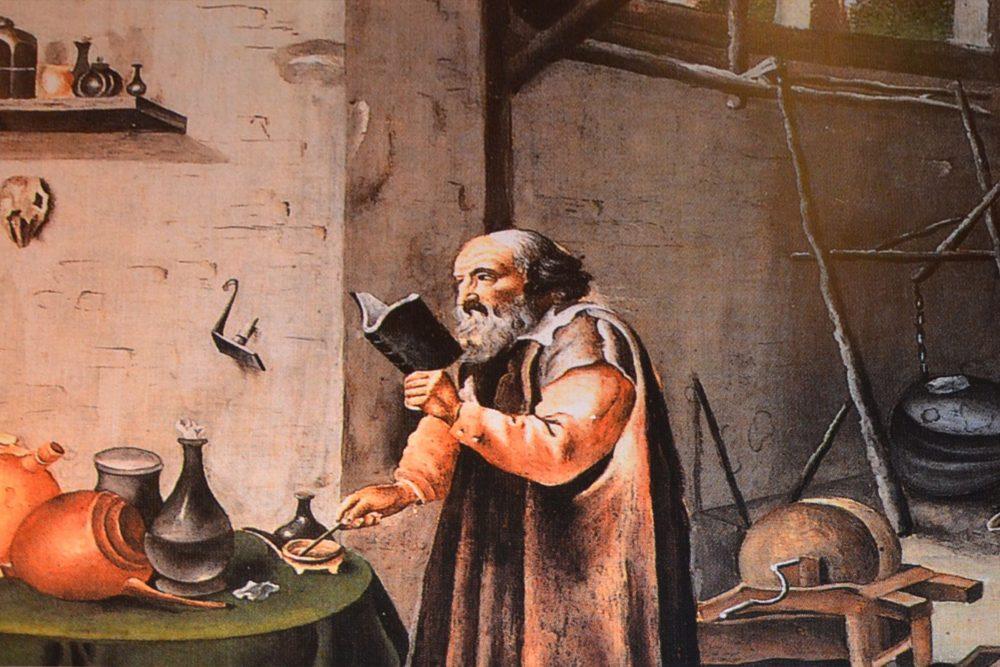 pintura de alquimista