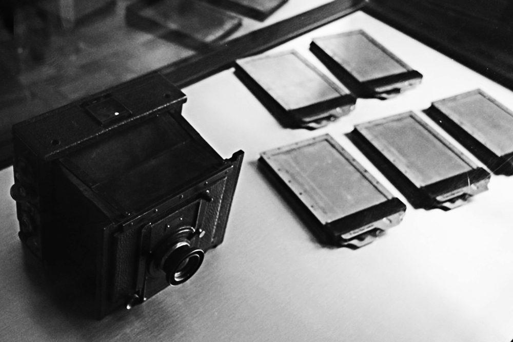 câmera fotográfica, final do século XIX