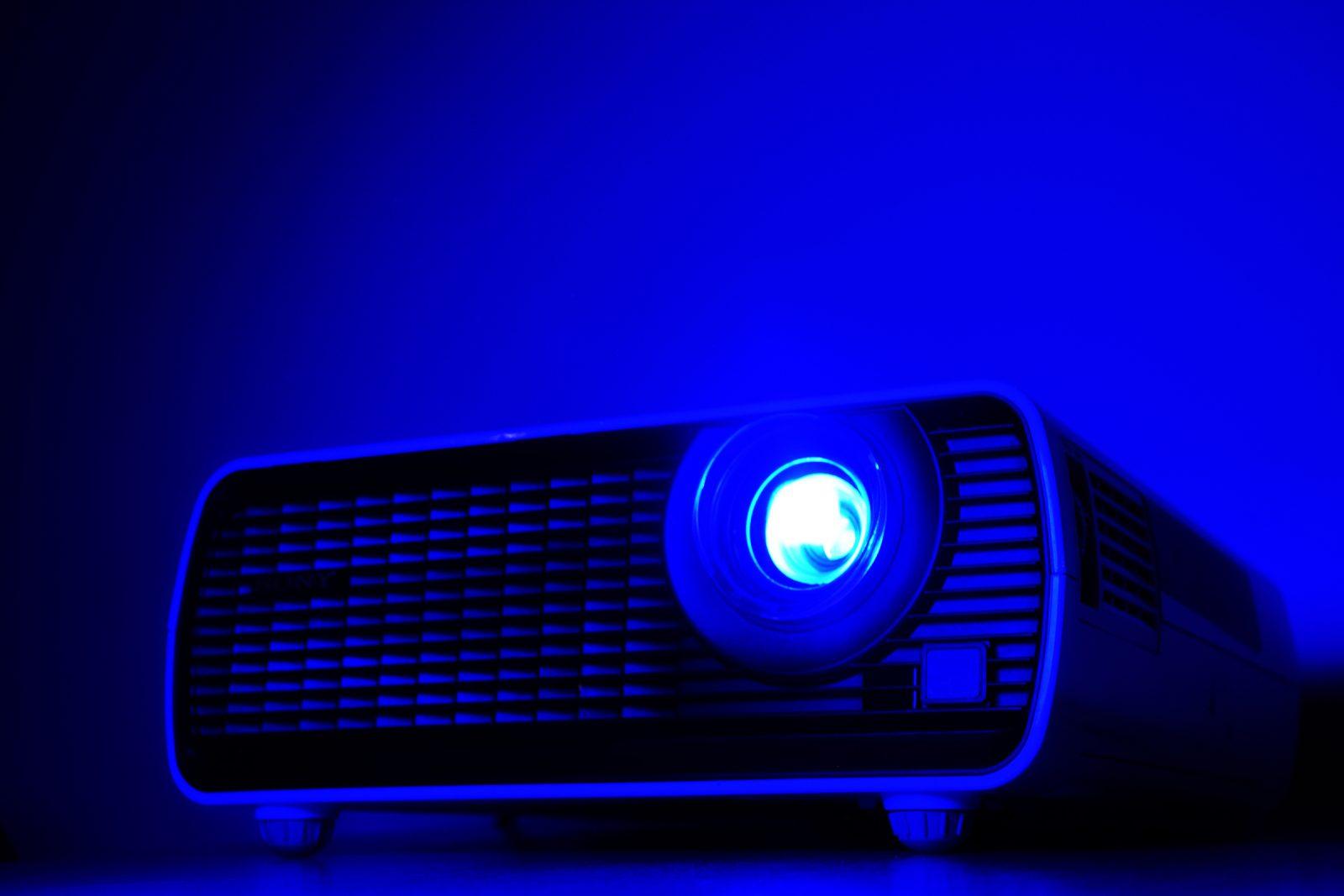 projetor digital usado para projetar os filmes